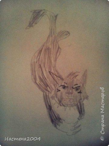 """Коты -воители. Бич и Костяк: """"А у Речного племени нет таких штучек как у нас..."""" Все рисунки выполнены фломастерами и карандашами. фото 15"""