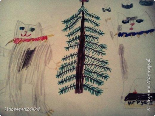 """Коты -воители. Бич и Костяк: """"А у Речного племени нет таких штучек как у нас..."""" Все рисунки выполнены фломастерами и карандашами. фото 16"""