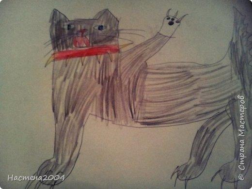 """Коты -воители. Бич и Костяк: """"А у Речного племени нет таких штучек как у нас..."""" Все рисунки выполнены фломастерами и карандашами. фото 20"""