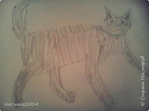 """Коты -воители. Бич и Костяк: """"А у Речного племени нет таких штучек как у нас..."""" Все рисунки выполнены фломастерами и карандашами. фото 21"""