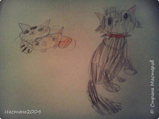 """Коты -воители. Бич и Костяк: """"А у Речного племени нет таких штучек как у нас..."""" Все рисунки выполнены фломастерами и карандашами. фото 22"""
