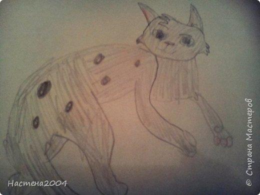 """Коты -воители. Бич и Костяк: """"А у Речного племени нет таких штучек как у нас..."""" Все рисунки выполнены фломастерами и карандашами. фото 23"""