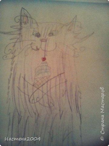 """Коты -воители. Бич и Костяк: """"А у Речного племени нет таких штучек как у нас..."""" Все рисунки выполнены фломастерами и карандашами. фото 25"""