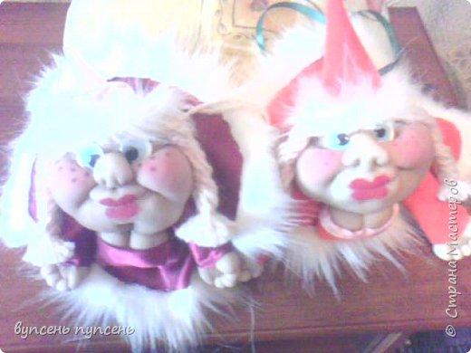 """Как то от скуки просматривала ролики на ютюбе и наткнулась на мастер класс Елены Володкевич """" как сшить куклу попика"""", попробовала - получились вот такие озорные мордaшки  фото 1"""