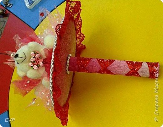Букет на день рождения. Просто мишки, конфеты добавлять не стала. фото 4