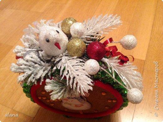 Подарили мне на праздник эти замечательный будильник. До чего ж хорош! снеговик - аппликация, на циферблате цифры  и стрелочки - камушки      фото 3