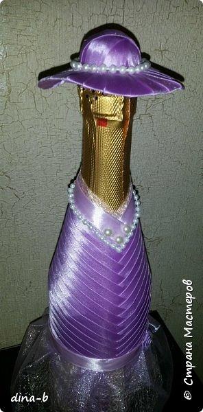 Вот такая парочка у меня получилась! Чехол для шампанского (съемный, как и шляпка) и шоколадница! фото 7