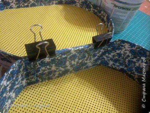 Очень надо  было сделать шкатулочку для хранения ниток ,ножниц и т.д.Размерчик получился внушительный-27х22х10 см фото 31