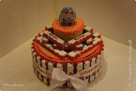 Доброго времени суток! На день рождения племянницы сделался вот такой тортик из сладостей.  фото 1