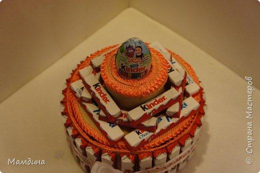 Доброго времени суток! На день рождения племянницы сделался вот такой тортик из сладостей.  фото 2