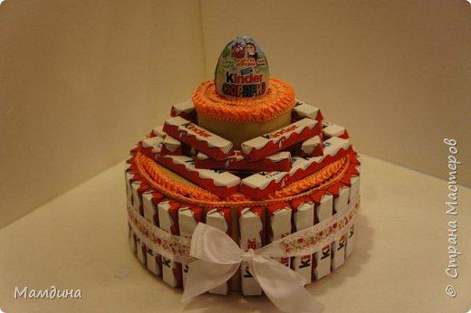 Доброго времени суток! На день рождения племянницы сделался вот такой тортик из сладостей.  фото 4