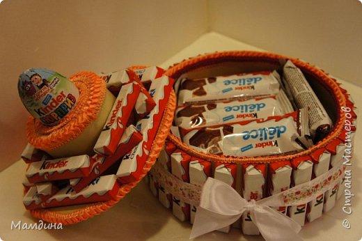 Доброго времени суток! На день рождения племянницы сделался вот такой тортик из сладостей.  фото 3