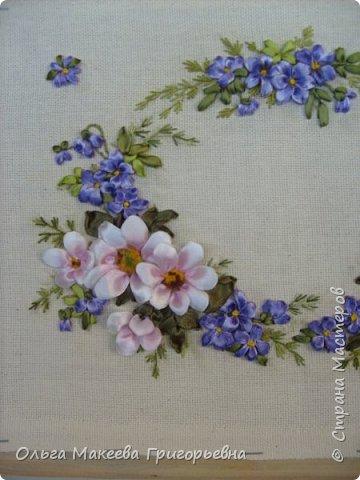 Доброго времени суток дорогие рукодельницы! Вот такой веночек полевых цветов я вышила.  Работа пока без рамки. фото 2