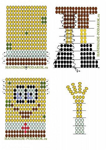 Всем привет! Вот, зашла похвастаться какого Спанч Боба сплела. Нашла подробный МК в Интернете, вот ссылка file://localhost/c:/Спанч%20боб%20из%20бисера.%20Мастер-класс.mht Для работы понадобиться: 1) Прочная проволока; 2) Бисер мелкий, желательно чешский: жёлтый, белый, красный, коричневый, зелёный (салатовый), синий(голубой). фото 2
