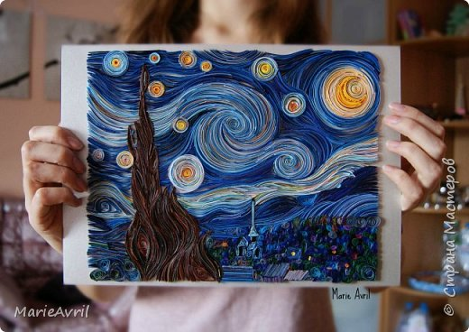 """Звездная ночь"""" Ван Гога в"""