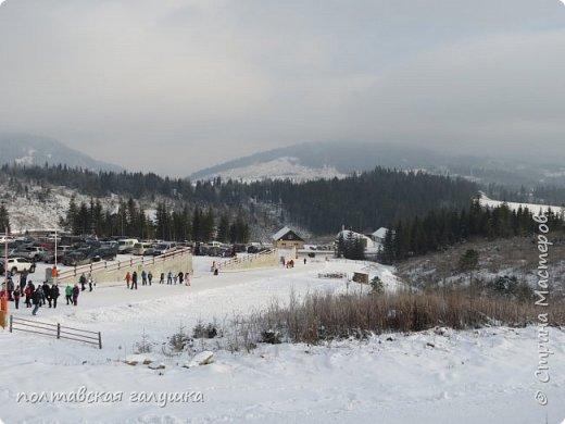 На 50-летний юбилей мужа, я подарила ему путевку на новогодние праздники в Карпаты, естественно на два человека ,т.е на него и себя)).Приехали мы в Прикарпатье 30 декабря утром. Вот такой красотой нас встретили горы. фото 48
