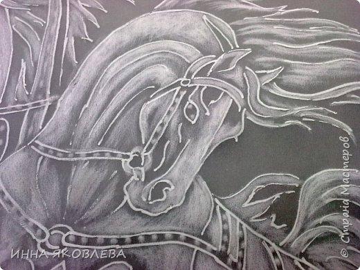 """""""Эх! Три белых коня!"""" Делалось под моим руководством со старой открытки. фото 4"""