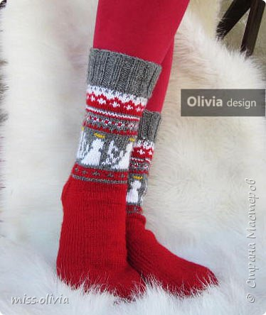 Носочки к Рождеству...