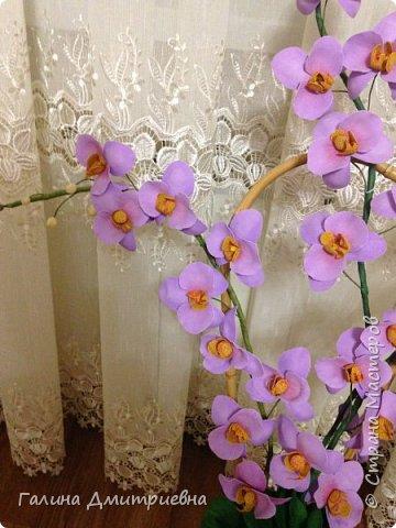 Добрый вечер жители Страны Мастеров! Вот такую орхидею я сотворила впервые.  Затем дочери моей понравилась и она заказала большую орхидею. Вторая  уже получилась получше. Мне она очень понравилась, я думаю Вам она тоже понравится.    фото 5