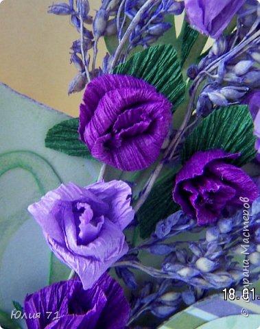 Открытка создавалась для женщины, которая любит фиолетовый цвет и розы. А ещё она несёт свет в мою жизнь (и не только в мою)! фото 3