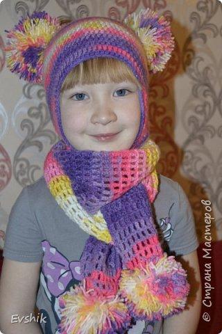 Весенний комплект для девочки 4-5 лет крючком с описанием фото 1