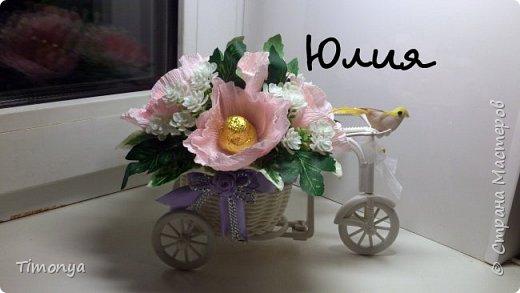 Цветочный велосипед фото 2