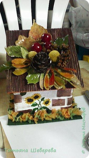 """В 2014 году сын пошел во второй класс и я решила - а что мне стоит самой изобразить букет на 1-е сентября?! :)) Но, честно говоря, мне жаль срезанные цветы и я не слишком люблю букеты в итоге - радости много, конечно, но только на неделю максимум... Посему было решено дарить более долговечную версию букета: орхидею в горшке. Ну а поскольку горшки у магазинных орхидей не блещут красой (корням нужен свет), а мы не ищем легких путей... Я давненько засматривалась на газетные плетенки мастериц из СМ, а тут - и повод и идея! :) Отпуск, опять же, взятый перед началом школьного года...  Итак, была выбрана чудесная большущая орхидея (я их большая поклонница вообще в последнее время, ибо они у меня единственные цветы, которые мало того, что почти все выживают, да при этом еще и цветут!) :)) Я накрутила трубочек, предварительно сверившись с кучей МК, и начала плести кашпо. Потом его покрасила в множество слоев разных красок, добиваясь нужного оттенка (к слову, так и не до конца подошедшего), покрыла лаком на водной основе (какой был на тот момент), сбоку прилепила несколько кусочков веточек, окрашенных в салатовый цвет, и бумажные цветы из гофробумаги (я их только-только научилась делать :)). Украсила стразами-росинками и упаковала в купленный по случаю (за случаем ездили с мужем во флористический магазин на другой конец Москвы, где купила еще мнооого всякого """"абсолютно необходимого в жизни"""" :)))) ) полиэтилен. Банты накрутила как смогла, салатовая и розовая флористическая упаковка осталась от букетов (хомякоз - страшнючая болезнь, а они красииивые быыли :) ) фото 9"""