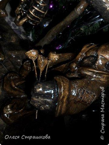 А вот и мои вороны!!! Обожаю их!!! Было задумано свидание, вечером под деревцем, так и вышло) фото 6