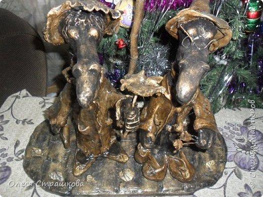 А вот и мои вороны!!! Обожаю их!!! Было задумано свидание, вечером под деревцем, так и вышло) фото 4