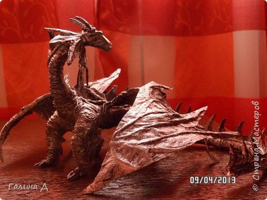 """Доброго всем дня, вечера или ночи! Подсмотрела на """"Все хобби"""" МК по созданию драконов и сделала сама несколько. Выношу на всеобщее обозрение. фото 7"""