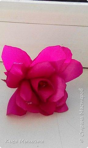 Мой первый цветочек из лент