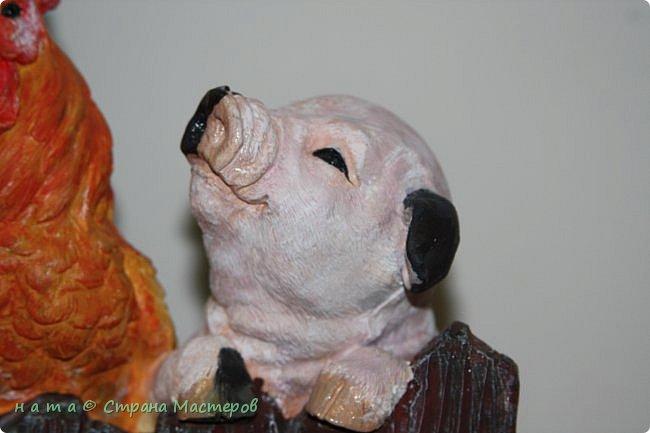 Муж подарил мне гипсовые заготовки -разукрашки. Звериков и Филина, показываемся, что получилось))) Раскрашивала темперой, глазки и мокрые носы ожили от 3Д геля  фото 8