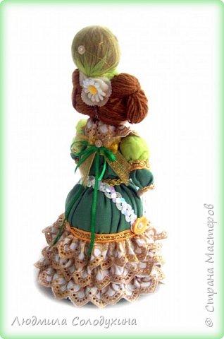 """Текстильная куколка """"Барыня"""".  Может быть украшением интерьера, а может быть игольницей. Ростик 25 см. фото 5"""