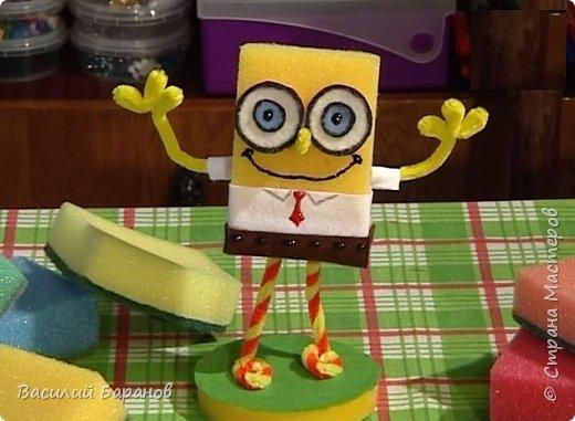 """Игрушка из поролоновой губки """"SpongeBob"""""""