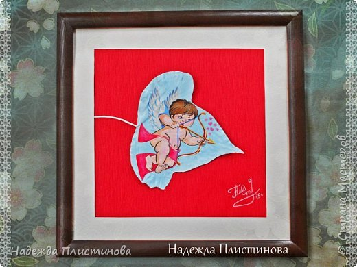 "Лист ПЛЮЩА интерьерный ""Амур"" фото 1"