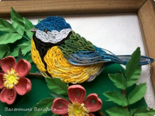 Здравствуйте жители Страны мастеров!!И снова у меня летняя картина!!!Люблю я лето,цветы и птиц.Вот только фотографии без солнца плохо передают цвет.Зелень на много ярче. фото 4