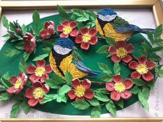 Здравствуйте жители Страны мастеров!!И снова у меня летняя картина!!!Люблю я лето,цветы и птиц.Вот только фотографии без солнца плохо передают цвет.Зелень на много ярче. фото 1