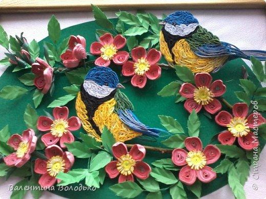 Здравствуйте жители Страны мастеров!!И снова у меня летняя картина!!!Люблю я лето,цветы и птиц.Вот только фотографии без солнца плохо передают цвет.Зелень на много ярче. фото 2