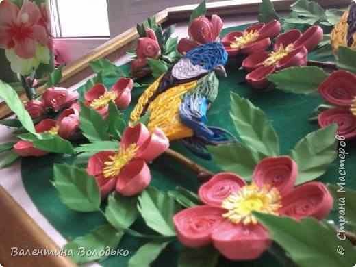 Здравствуйте жители Страны мастеров!!И снова у меня летняя картина!!!Люблю я лето,цветы и птиц.Вот только фотографии без солнца плохо передают цвет.Зелень на много ярче. фото 7