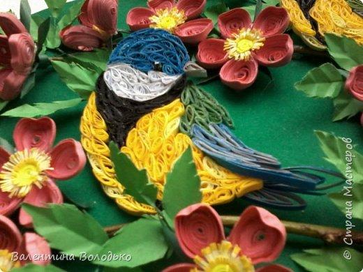 Здравствуйте жители Страны мастеров!!И снова у меня летняя картина!!!Люблю я лето,цветы и птиц.Вот только фотографии без солнца плохо передают цвет.Зелень на много ярче. фото 3