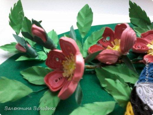 Здравствуйте жители Страны мастеров!!И снова у меня летняя картина!!!Люблю я лето,цветы и птиц.Вот только фотографии без солнца плохо передают цвет.Зелень на много ярче. фото 5