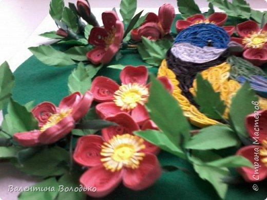Здравствуйте жители Страны мастеров!!И снова у меня летняя картина!!!Люблю я лето,цветы и птиц.Вот только фотографии без солнца плохо передают цвет.Зелень на много ярче. фото 6