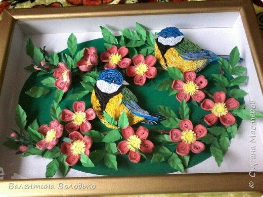 Здравствуйте жители Страны мастеров!!И снова у меня летняя картина!!!Люблю я лето,цветы и птиц.Вот только фотографии без солнца плохо передают цвет.Зелень на много ярче. фото 9