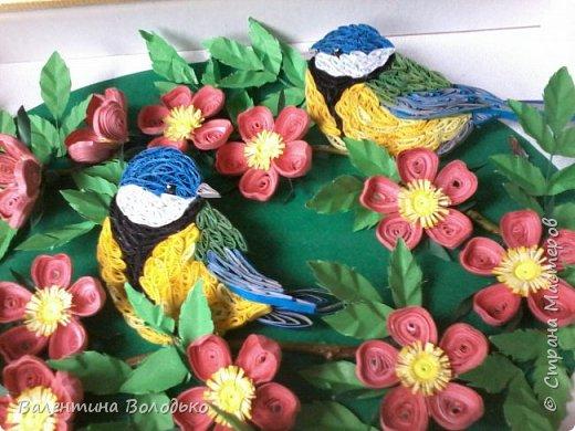 Здравствуйте жители Страны мастеров!!И снова у меня летняя картина!!!Люблю я лето,цветы и птиц.Вот только фотографии без солнца плохо передают цвет.Зелень на много ярче. фото 8