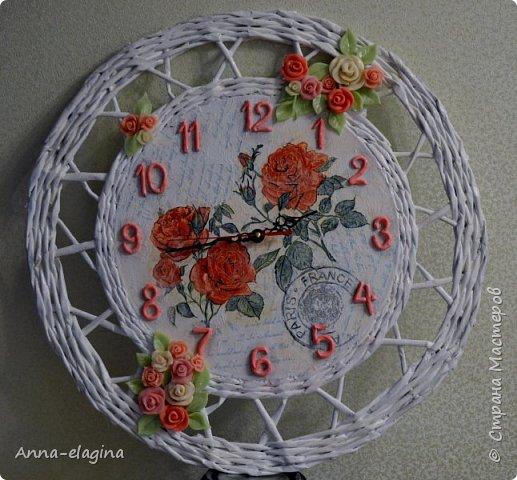 Часы в стиле шебби-шик фото 1