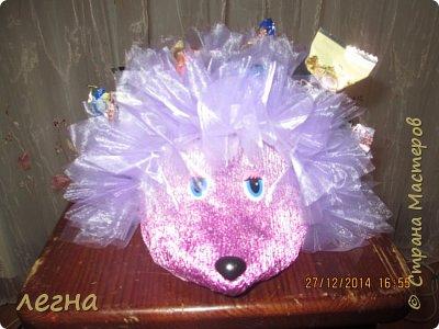 Ежик с конфетами фото 2