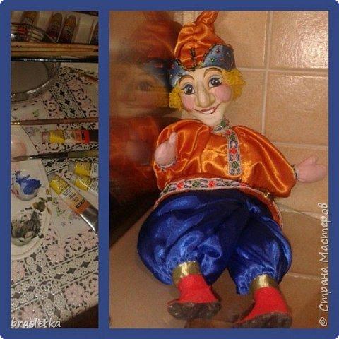 Кукольный театр. Петрушка. Роспись по папье-маше. Автор: Кристина Гусятинская