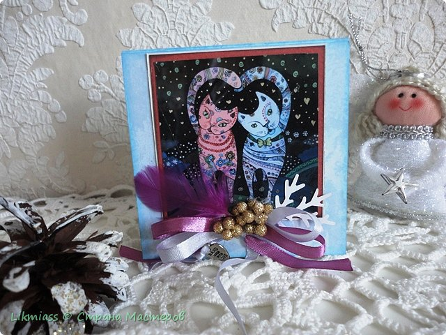 Открыточки новогодние по просьбе одной милой девушки. Ей надо было простенькие и похожие. Сначала сделался вот этот снегирь. Потом похожих не получилось и я начала все сначала, так что снегирь остался в одиночестве.  фото 13