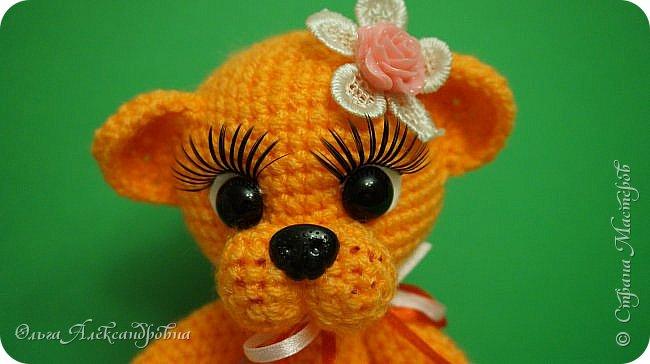 Вот такая мишутка Апельсинка у меня появилась. Мааааленькая  очаровашка. фото 3