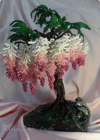 Доброго времени суток всем жителям Страны Мастеров!!! Наконец то я решилась сплести бонсай:) Долго выбирала какое деревце буду создавать, остановилась на глицинии ...........это то что у меня получилось....:) фото 1